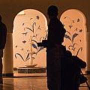 Photographers In Silhouette At A Heritage Building In Rajasthan In India Art Print