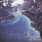 Phytoplankton Or Algal Bloom Art Print
