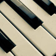 Piano Keys Art Print by Dm909