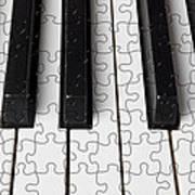 Piano Keys Jigsaw Art Print by Garry Gay