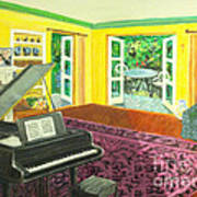 Piano Room Variation I Art Print
