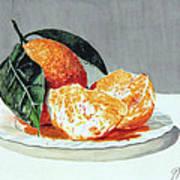 Piatto Con Arance Art Print