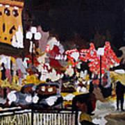 Piccadilly Night Art Print