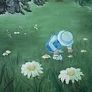 Picking Flowers Art Print