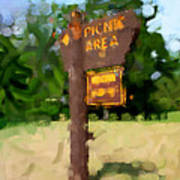 Picnic Area Art Print