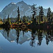 Picture Lake - Heather Meadows Landscape In Autumn Art Prints Art Print