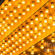 Picture Of Theater Lights Art Print by Paul Velgos