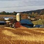 Picturesque Farm Photographed Art Print