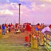 Pier Fishing Art Print