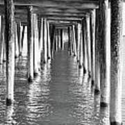 Pier In Art Print