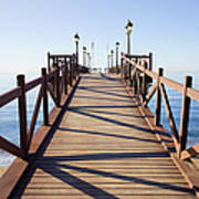 Pier On Costa Del Sol In Marbella Art Print