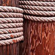Pier Ropes Art Print