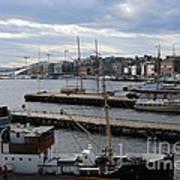 Piers Of Oslo Harbor Art Print
