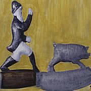 Pig Chasing Art Print