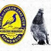 Pigeon Grand Bock Art Print