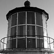 Pigeon Point Lighthouse Beacon - Black And White Art Print