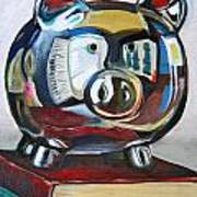Piggy On Books Art Print