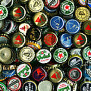 Pile Of Beer Bottle Caps . 2 To 1 Proportion Art Print by Wingsdomain Art and Photography