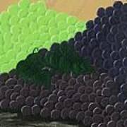 Pile Of Wine Grapes Art Print