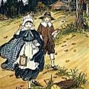 Pilgrim Schoolchildren Art Print