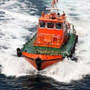 Pilot Boat - Dardanelles-canakkale Art Print