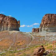 Pilot Butte Rock Formation Iv Art Print