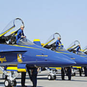 Pilots Of The Blue Angels Flight Art Print