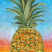 Pineapple Sunrise 2 Or Pinapple Sunset 2 Art Print