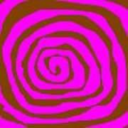 Pink And Brown Swirls Art Print by Jeannie Atwater Jordan Allen