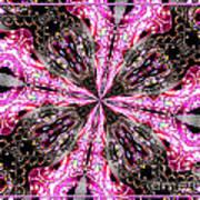 Pink And Purple Gemstones Jewelry Kaleidoscope Art Print
