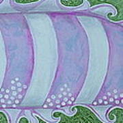 Pink And White Stylized Fantasy Fish Art Print