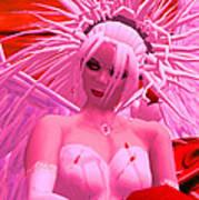Pink Angel Askolda Art Print