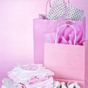 Pink Baby Shower Presents Art Print