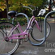 Pink Bicycle . 7d10159 Art Print