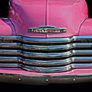 Pink Chevrolet Truck Art Print