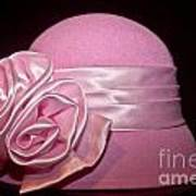 Pink Cloche Hat Art Print