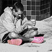 Pink Crocks Art Print