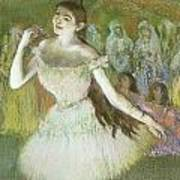 Pink Dancer  Art Print by Edgar Degas