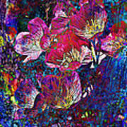 Pink Floral Abstract Art Print