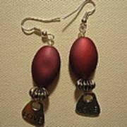 Pink Love Earrings Art Print by Jenna Green
