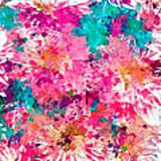 Pink Mums Art Print