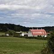 Pink Roof Farm Art Print