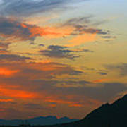 Pinnacle Peak Sunset Art Print