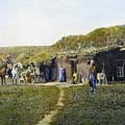 Pioneers Sod House, 1887 Art Print