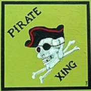 Pirate Crossing Beware Art Print