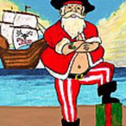 Pirate Santa Art Print