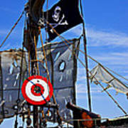 Pirate Ship With Target Art Print by Garry Gay