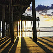 Pismo Pier Sunset II Art Print