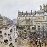 Pissarro: Theatre Francais Art Print