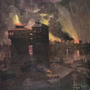 Pittsburgh: Furnaces, 1885 Art Print